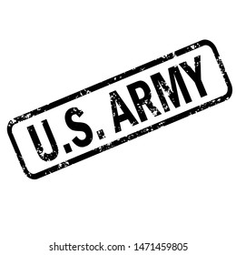 United States Army grunge rubber stamp on white background, United States Army Stamp sign. US army sign.