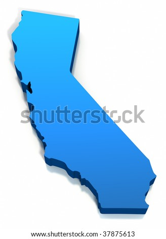 United States California Map Outline On Stock Illustration 37875613