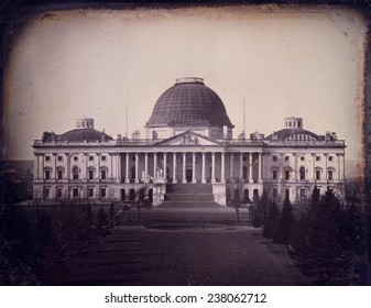 United States Capitol building Washington DC Daguerreotype created by John Plumbe
