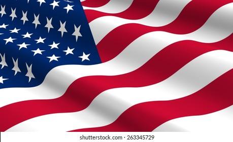 米国の国旗の背景。コンピュータが生成した3Dフォトレンダリング。
