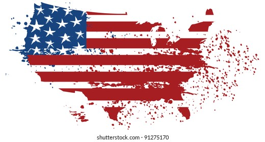 United States Grunge Map
