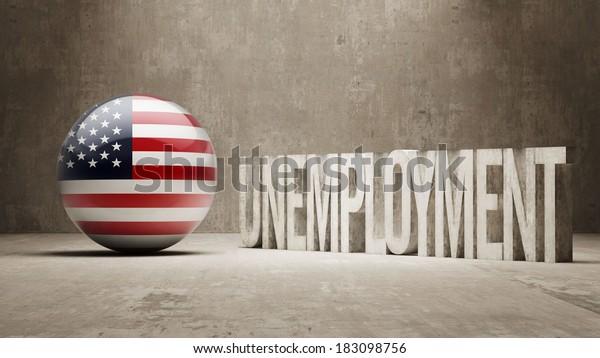 United States High Resolution Unemployment Concept