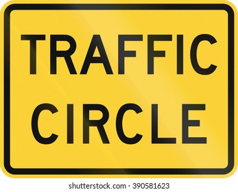 United States MUTCD road sign - Traffic circle.
