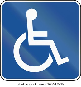 United States MUTCD road road sign - Handicapped accessible.