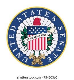 United States Senate Seal isolated on white background.