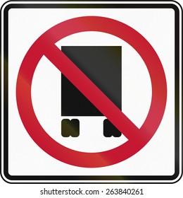 United States traffic sign: No trucks/National Network Prohibited