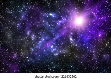 Universe background for presentation design. Star and space