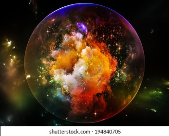 Universe Is Not Enough series. Design composed of fractal elements, lights and textures as a metaphor on the subject of fantasy, science, religion and design