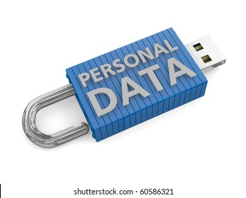 Unlocked USB device depicting the potential theft or loss of personal data