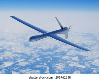 Unmanned aerial vehicle in the sky
