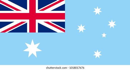 Unofficial Large Flat Flag of Australian Antarctic Territory Horizontal