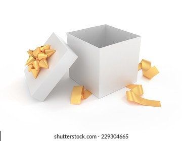Unpacked luxury gift box - 3D rendered image