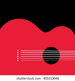 Unusual guitar graphic ideal for music gig announcements