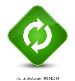 Update icon isolated on special green diamond button abstract illustration