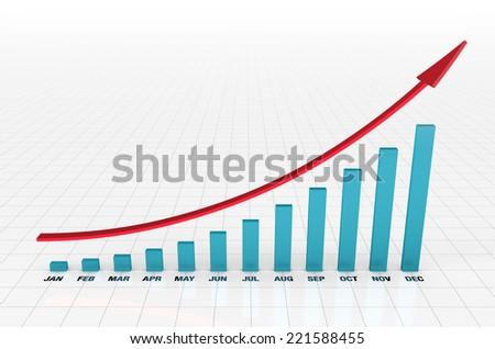 upgoing bar chart months yearのイラスト素材 221588455 shutterstock