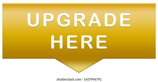 upgrade here web Sticker Button
