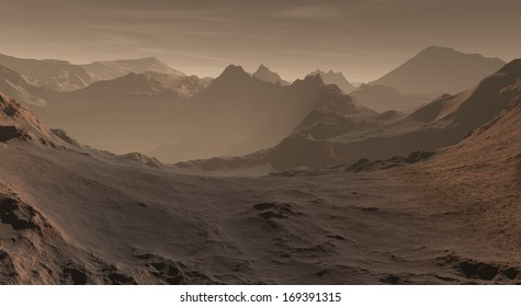 Upland Martian peaks with drifting dust deposits