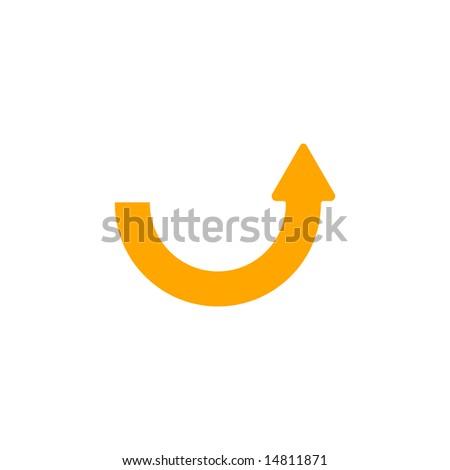 Upwards Curved Arrow With Arrowhead On The Right