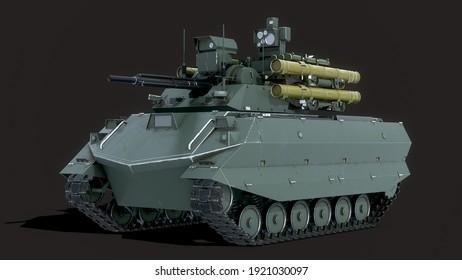 Uran Tank Drone 3D illustration