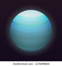 Uranus planet icon. Isometric of uranus planet icon for web design isolated on black background