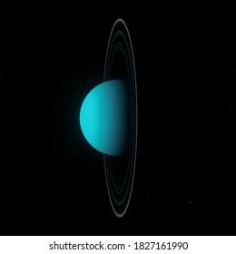 Uranus Planet Wallpaper - 3D Illustration