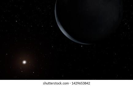 Uranus - planets of the Solar system. 3D illustration.