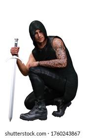 Urban Fantasy Caucasian Man 3D Rendering 3D Illustration