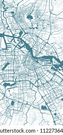 urban map of Amsterdam, Nederland