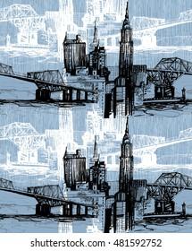 Urban skyline pattern