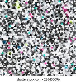 urban triangle seamless pattern with grunge effect (raster version)