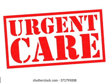 URGENT CARE red Rubber Stamp over a white background.