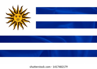 Uruguay flag with 3d effect
