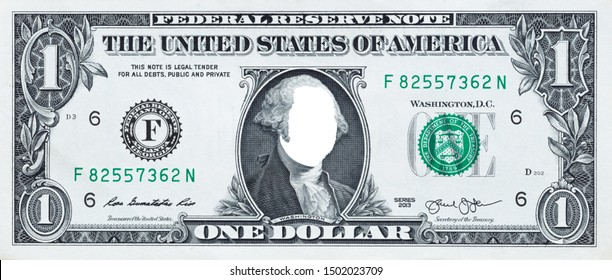 U.S. 1 dollar border with empty middle area