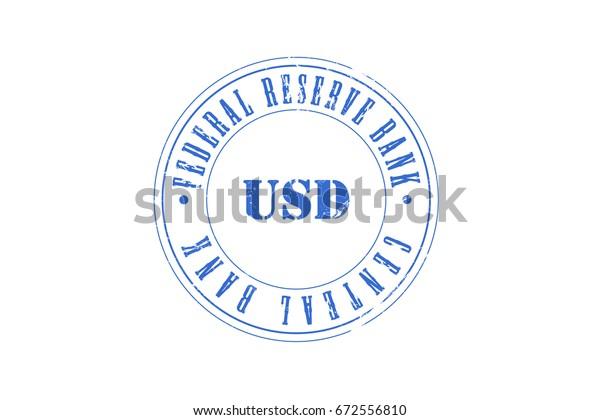 Us Dollar Central Bank Federal Reserve Stock Illustration