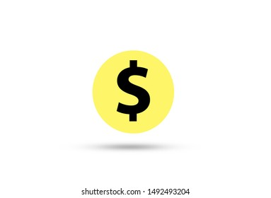 US dollar sign on white background.US dollar is main and popular currency of exchange in the world.Investment and saving concept.