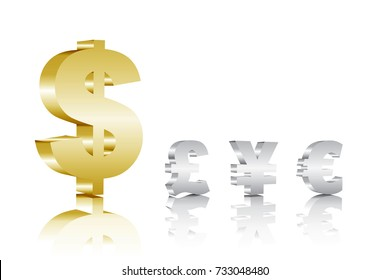 US dollars and other currencies. Foreign exchange