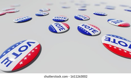 US Elections Concept Vote USA 3D rendering