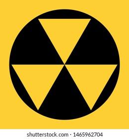 US fallout shelter sign illustration