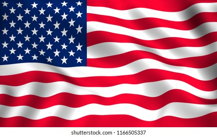 US flag symbol of America