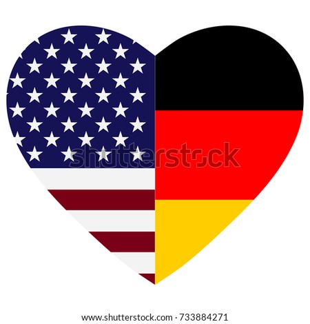 Us Germany Flags Heart Stock Illustration Royalty Free Stock
