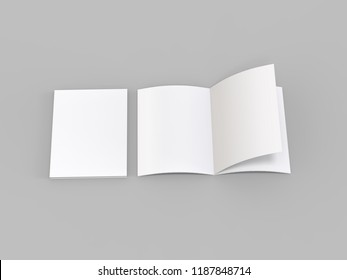 US Letter magazine or brochure isolated on light grey background, 3d illustration