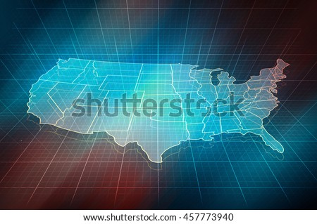 Us map outline map border states stock illustration royalty free us map outline map with border of states digital design 3d map of gumiabroncs Image collections