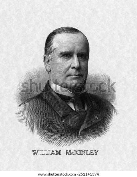 米国大統領。ウィリアム・マッキンリー米大統領。」のイラスト素材 ...