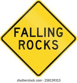 US road warning sign: Falling rocks