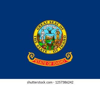 U.S. state flag of Idaho background close up