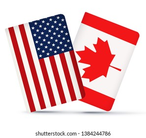 Canada Usa Flag Images, Stock Photos & Vectors | Shutterstock
