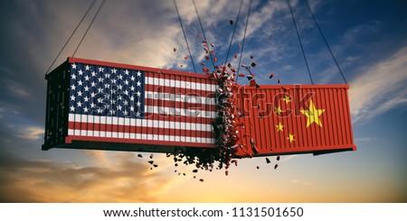 USA China Trade War US America em ilustração stock