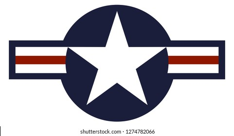 USA country roundel flag based round symbol