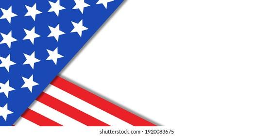 USA Flag Background, America Illustration