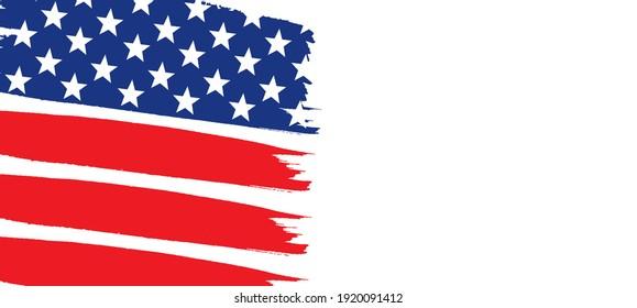 USA Flag Background, American Flag Illustration